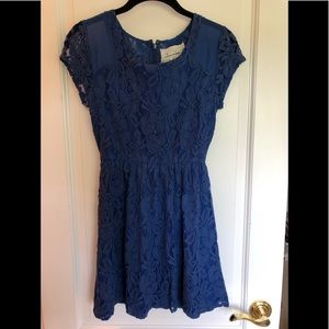 Urban Outfitters Royal Blue Lace Dress XS